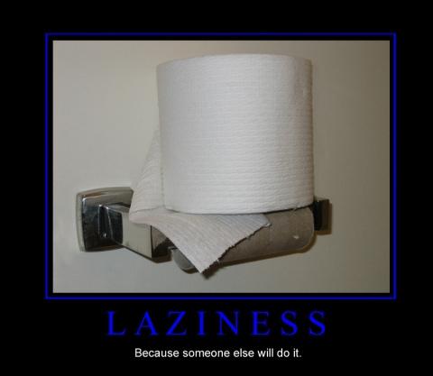 Lazy Toilet Paper
